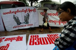 Myanmar retains tough clause in communications law