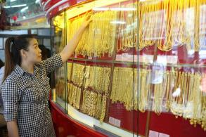 Gold prices down B100 to B20,250