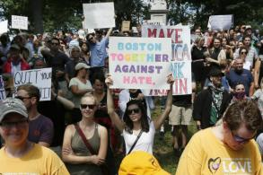 Massive counterprotest upstages Boston