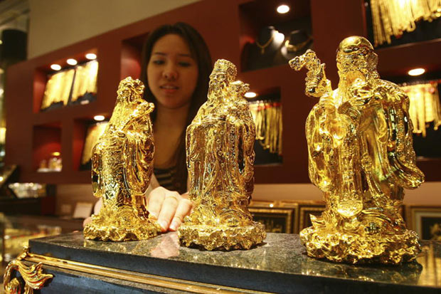 Gold prices down B150 to B20,850
