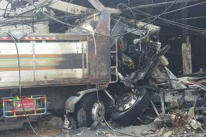 Six killed, 3 injured in Saraburi lorry crash