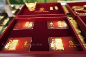 Gold prices up B250 to B20,550