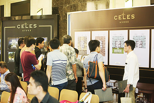 Luxury condominium market is sizzling! CELES Asoke is 80% sold after only one day of presales