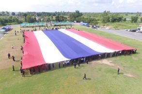 Phitsanulok celebrates largest Thai flag