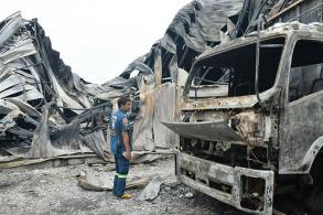 Korat metal roofing factory hit by fire