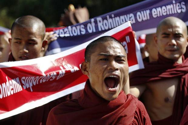 Sri Lanka arrests six in hunt for monks who attacked Rohingya refugees
