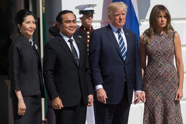 Trump hails stronger Thailand ties as he meets PM Prayuth