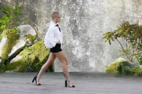 Chanel waterfall, Vuitton VIPs steal the show in Paris