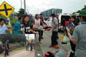 28 hurt as bus overturns in Saraburi
