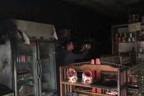 Fire hits grocery shop, owner suffers serious burns