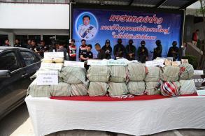 Meth, ketamine seized, 8 arrested in Chiang Rai