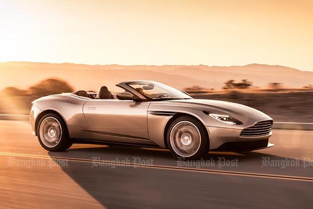 Aston Martin DB11 blows its top off