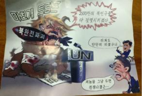 'Mad dog' anti-Trump leaflets float in from N.Korea