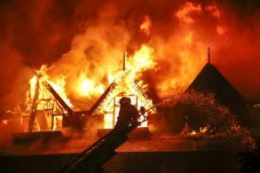 Fire guts luxury Myanmar hotel, 1 dead