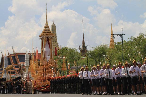 Procession to royal crematorium rehearsed