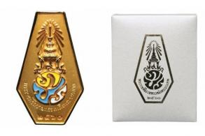 Commemorative pins on sale on Sunday