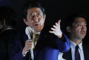Japan PM Abe's ruling bloc on track for big election win