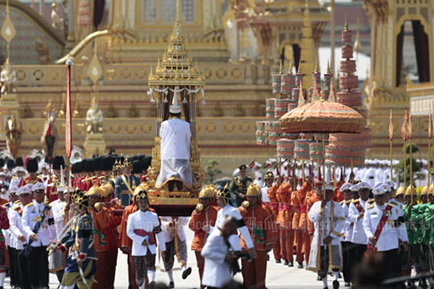 Remains of late King Bhumibol collected after cremation