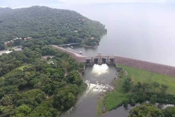 The Ubon Ratana dam releases water downstream in Khon Kaen