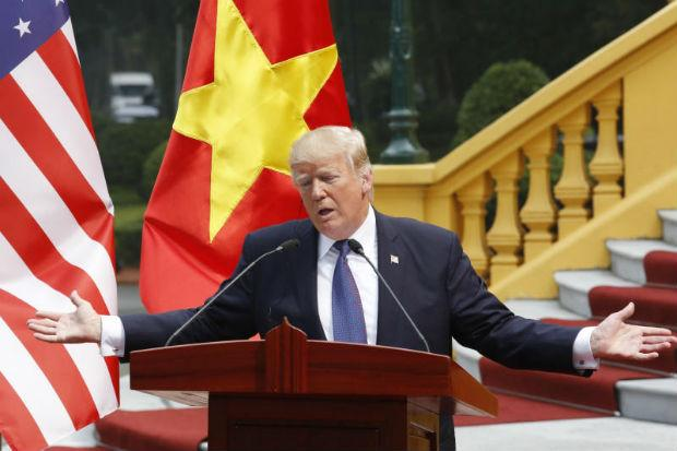 Image result for trump, south china sea, vietnam photos