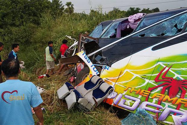Three killed in school bus crash