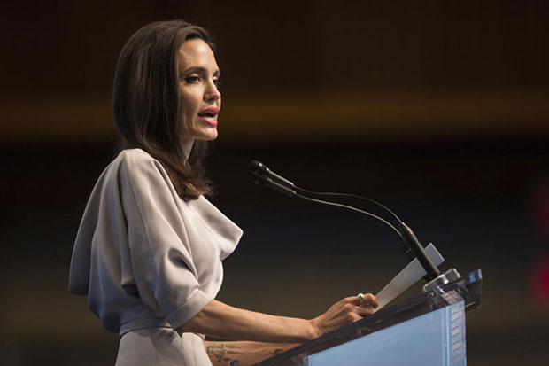 Angelina Jolie condemns violence against Rohingya