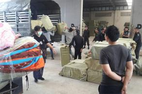 Pirated goods seized from border