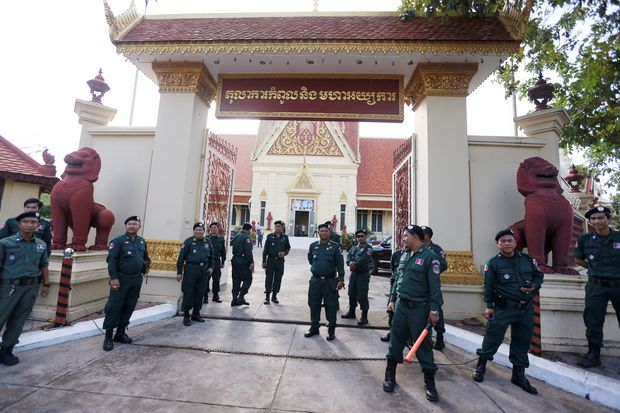 Cambodia's main opposition party dissolved