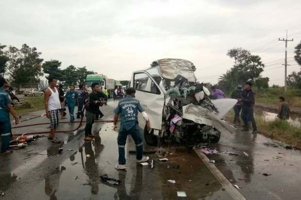 Van driver charged with Japanese deaths