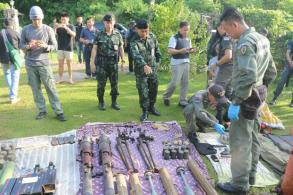Man caught with cache of weapons