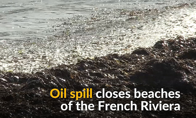 French Riviera closes its beaches due to oil spill