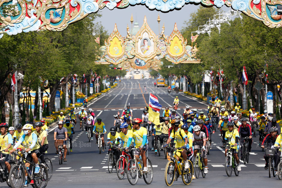 Rehearsal for national cycling event