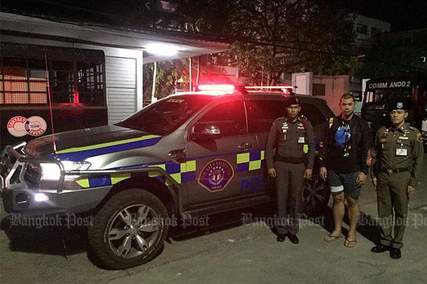 Police fan caught driving bogus CSD patrol car | Bangkok