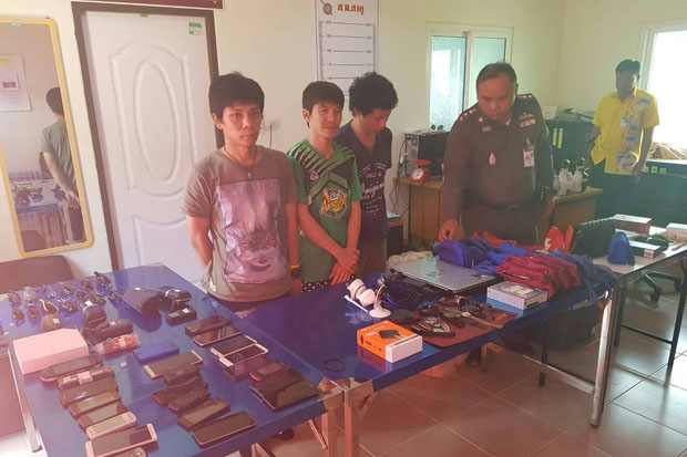 Three Phuket airport luggage handlers arrested for theft