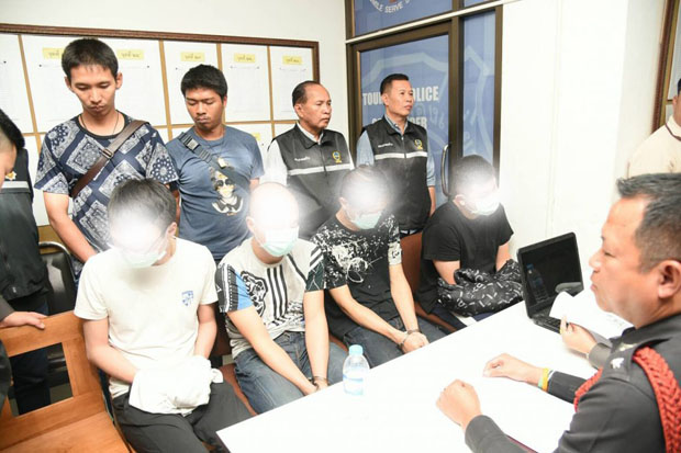 Six Taiwanese arrested for call scam