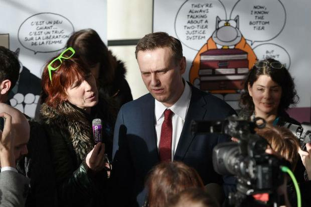 Russian opposition leader Navalny seized amid protests