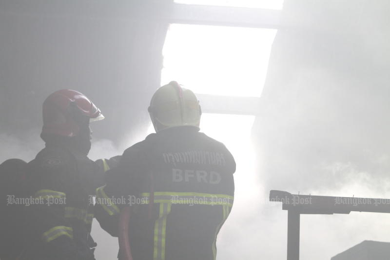 Fire at Chon Buri factory