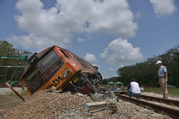 Two derailments halt train services in South