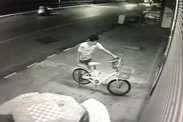 Khon Kaen man in trouble over joyride on bicycle