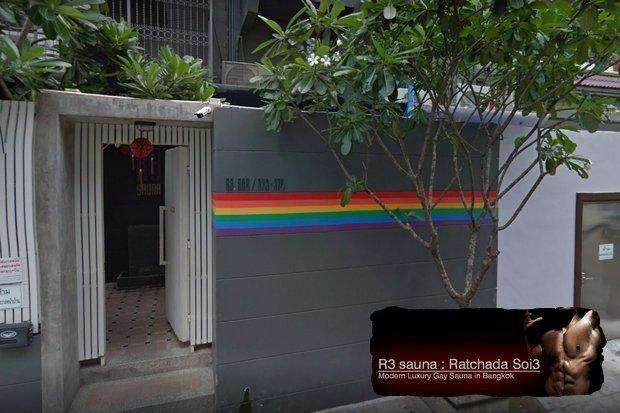 Gay sauna group sex