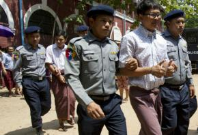 Myanmar cop describes 'trap' to arrest reporter of atrocity