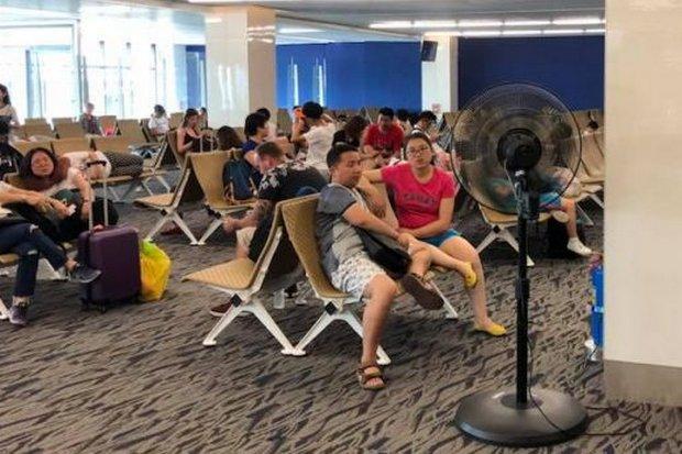 At Phuket airport, passengers losing their cool