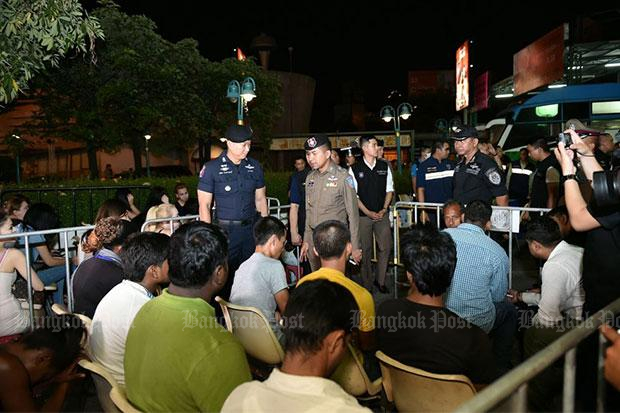 36 foreigners detained in coordinated raids
