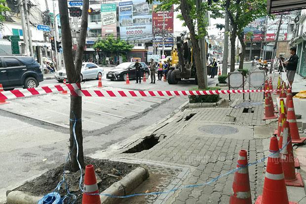 Road section in Bangkok subsides   Bangkok Post: news