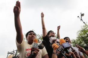 Protest leaders arrested as democracy rally ends peacefully