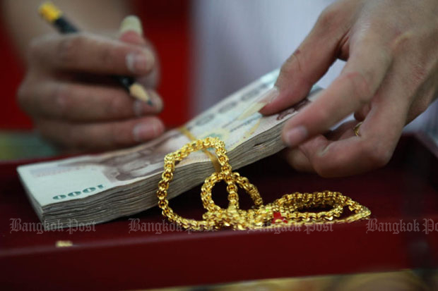 Gold prices fell B100 to B19,800