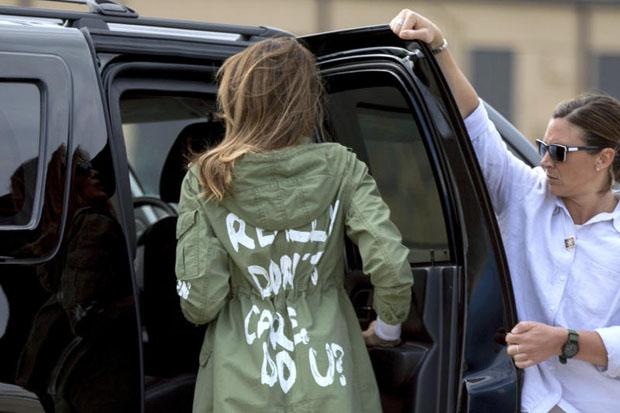 Melania Trump dons 'I really don't care, do u?' jacket