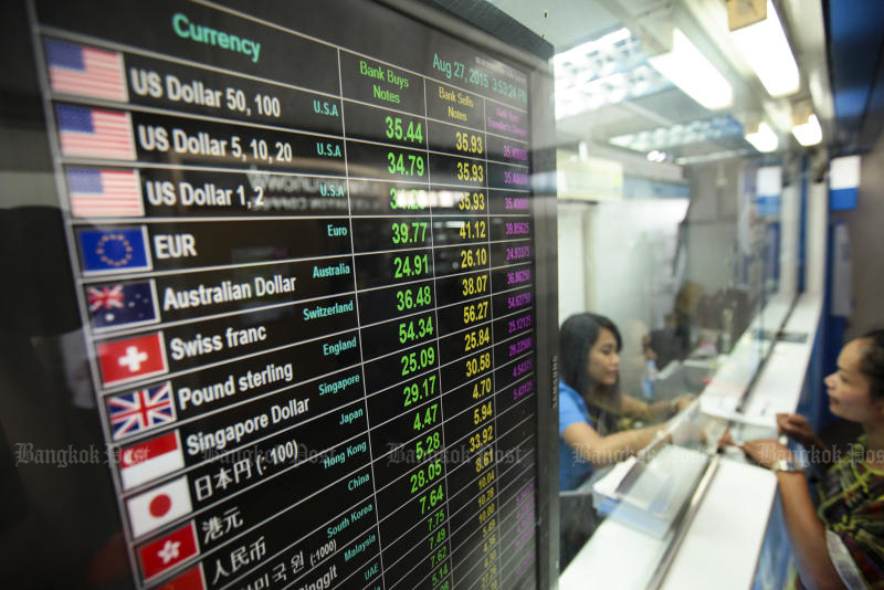 Baht tests 7-month low on continued outflows