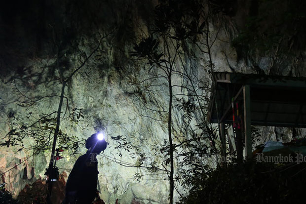 Thailand authorities unsure how to free boys, coach trapped in cave