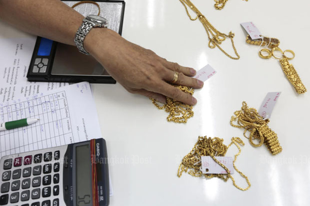 Gold prices down 150 baht to B18,950